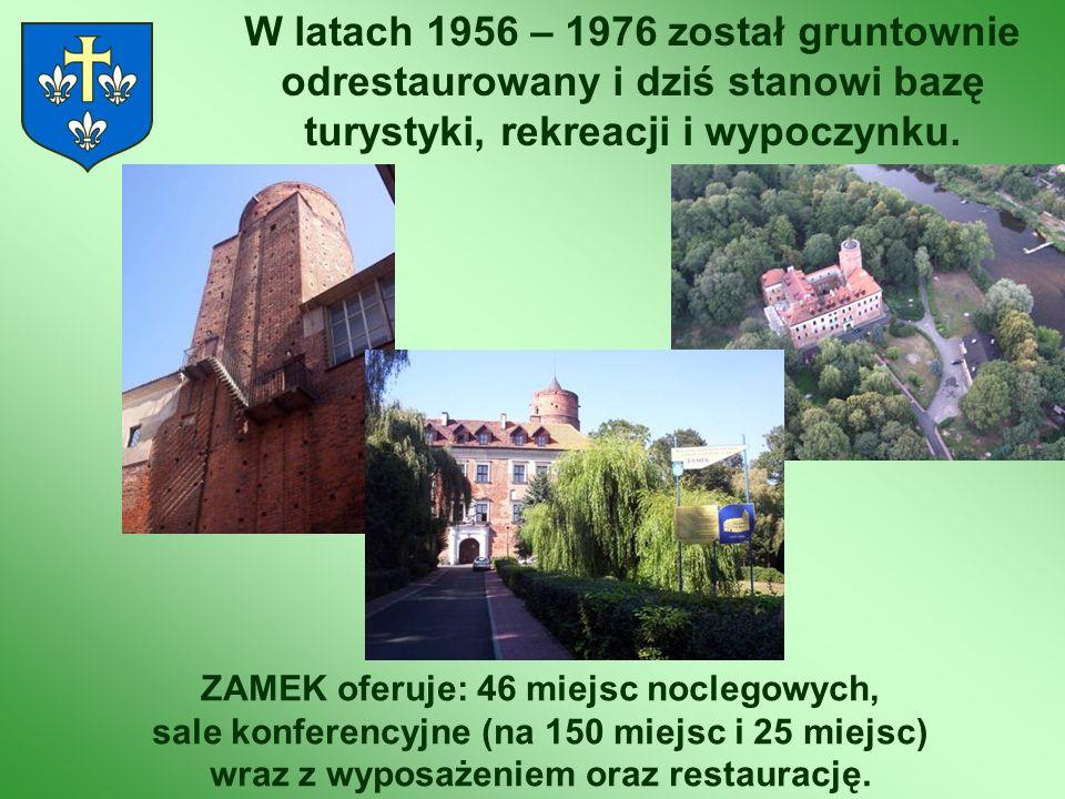 W latach 1956 – 1976 został gruntownie odrestaurowany i dziś stanowi bazę turystyki, rekreacji i wypoczynku. ZAMEK oferuje: 46 miejsc noclegowych, sal