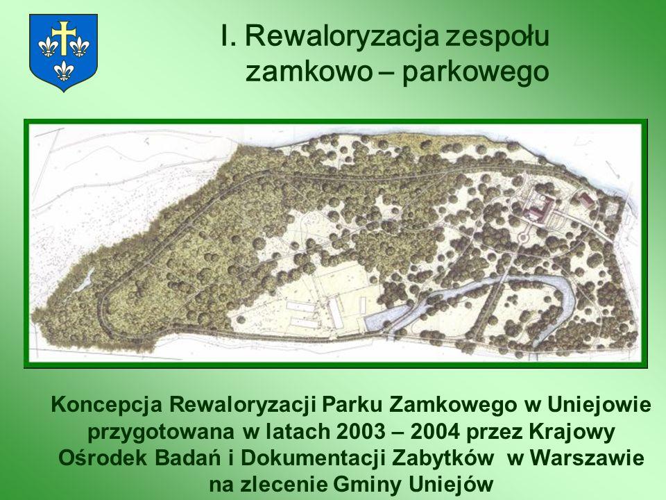 I. Rewaloryzacja zespołu zamkowo – parkowego Koncepcja Rewaloryzacji Parku Zamkowego w Uniejowie przygotowana w latach 2003 – 2004 przez Krajowy Ośrod