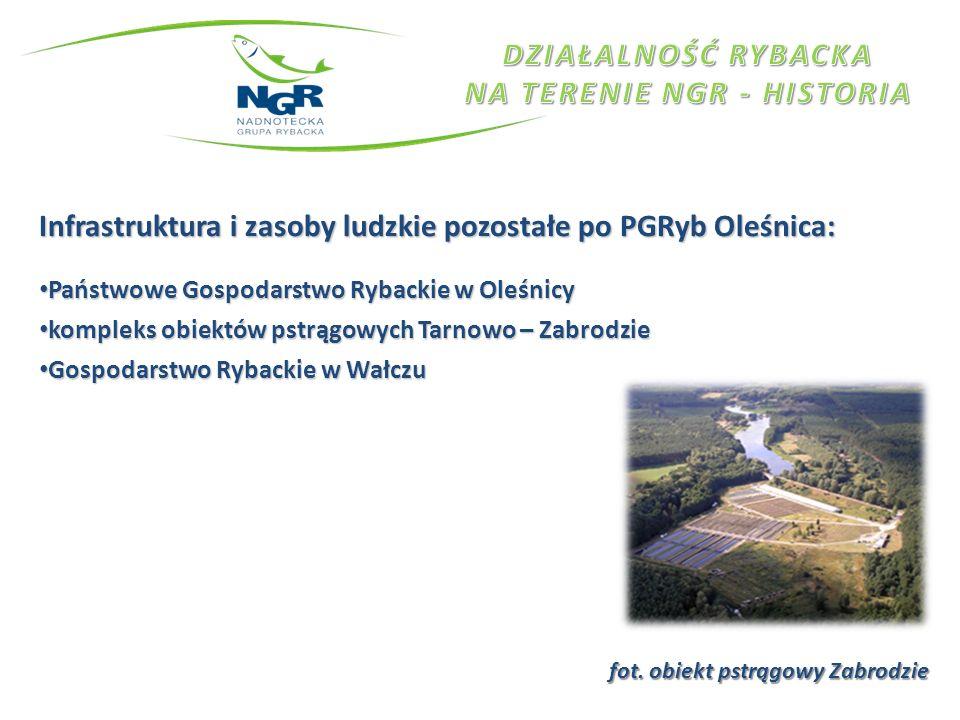 Infrastruktura i zasoby ludzkie pozostałe po PGRyb Oleśnica: Państwowe Gospodarstwo Rybackie w Oleśnicy Państwowe Gospodarstwo Rybackie w Oleśnicy kom