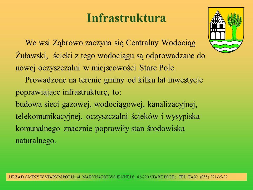 Infrastruktura URZĄD GMINY W STARYM POLU; ul. MARYNARKI WOJENNEJ 6; 82-220 STARE POLE; TEL./FAX: (055) 271-35-32 We wsi Ząbrowo zaczyna się Centralny