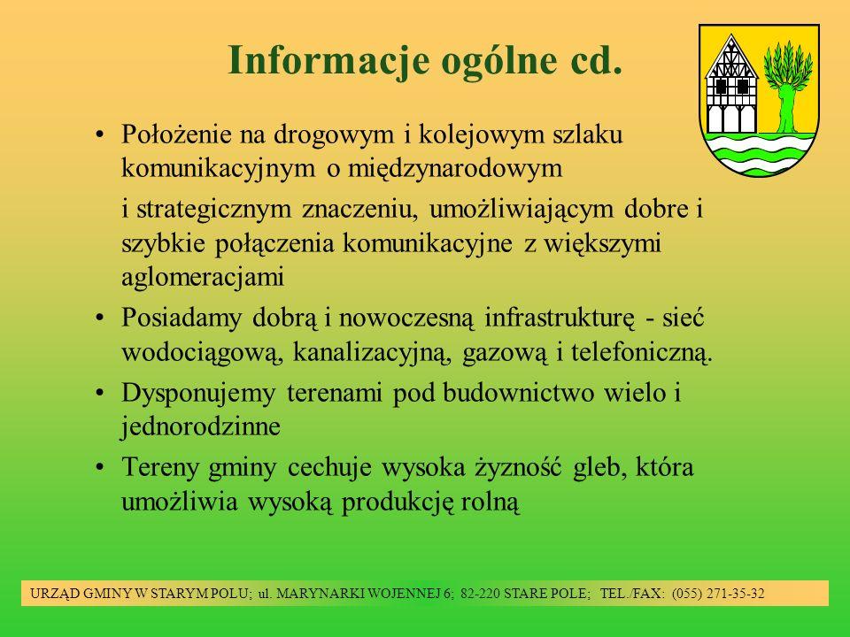 Informacje ogólne cd. Położenie na drogowym i kolejowym szlaku komunikacyjnym o międzynarodowym i strategicznym znaczeniu, umożliwiającym dobre i szyb
