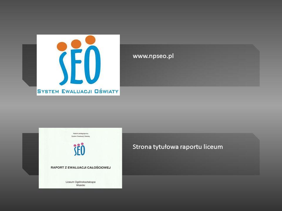 Strona tytułowa raportu liceum www.npseo.pl