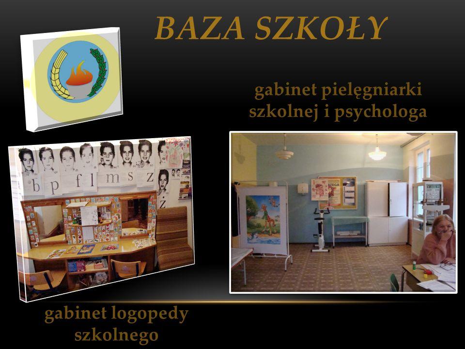 BAZA SZKOŁY gabinet logopedy szkolnego gabinet pielęgniarki szkolnej i psychologa