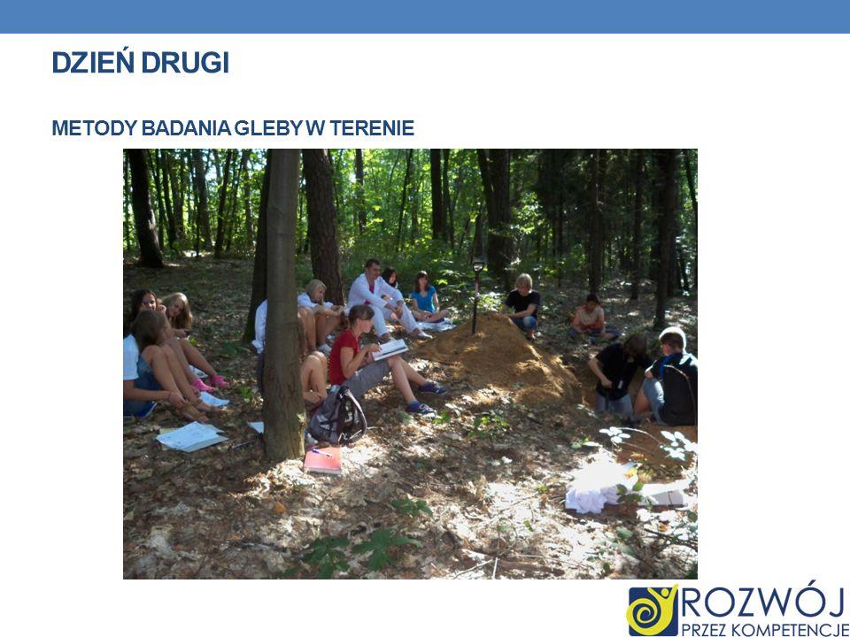 DZIEŃ DRUGI METODY BADANIA GLEBY W TERENIE