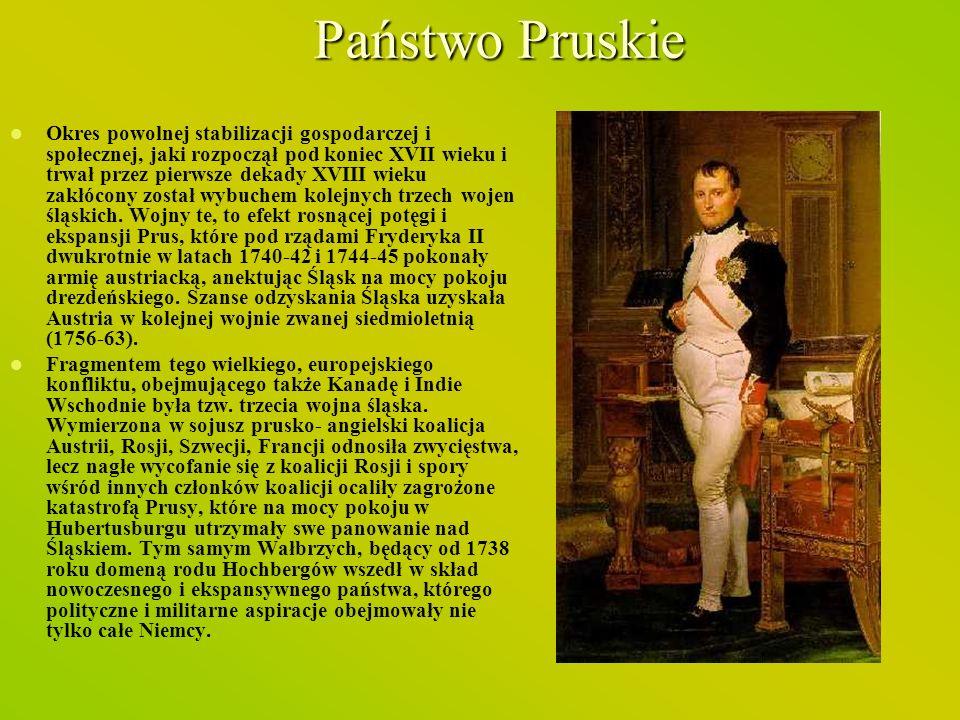 Państwo Pruskie Okres powolnej stabilizacji gospodarczej i społecznej, jaki rozpoczął pod koniec XVII wieku i trwał przez pierwsze dekady XVIII wieku