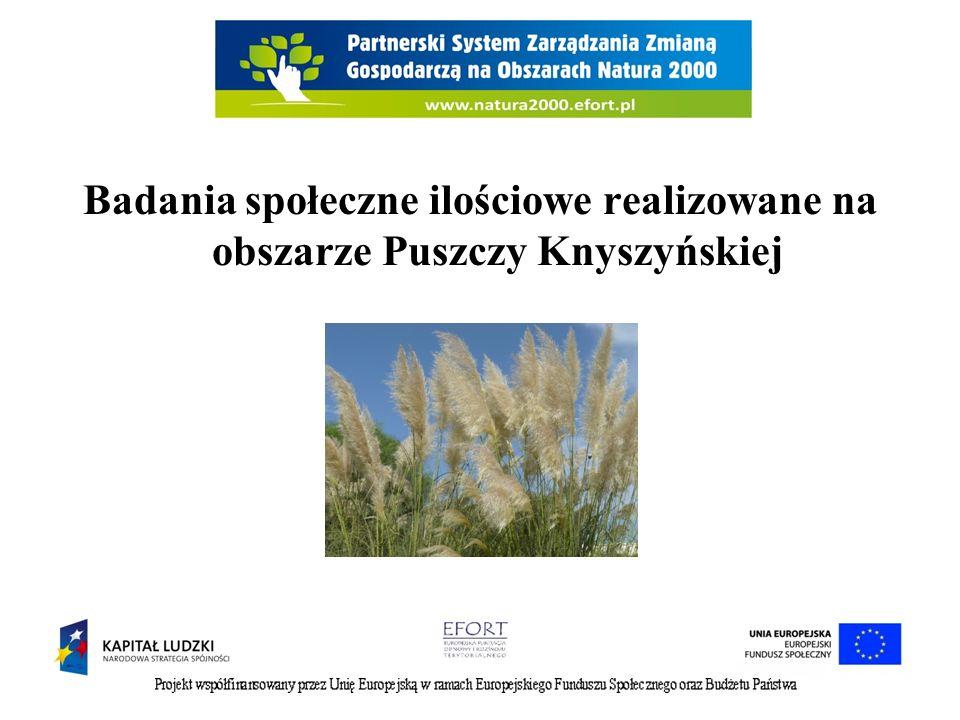 Badania społeczne ilościowe realizowane na obszarze Puszczy Knyszyńskiej