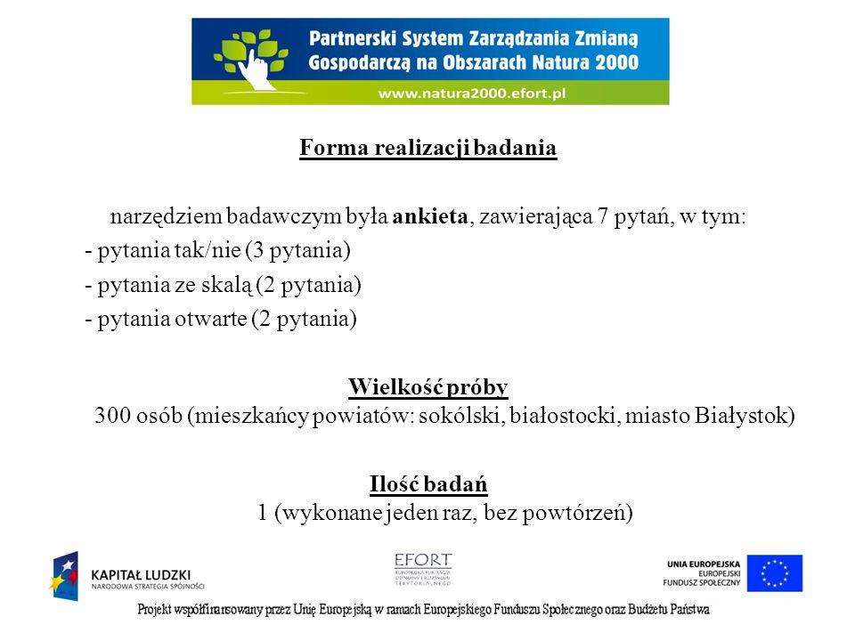 Scenariusz społecznych badań ilościowych na obszarze Puszczy Knyszyńskiej realizowanych w ramach projektu pt.