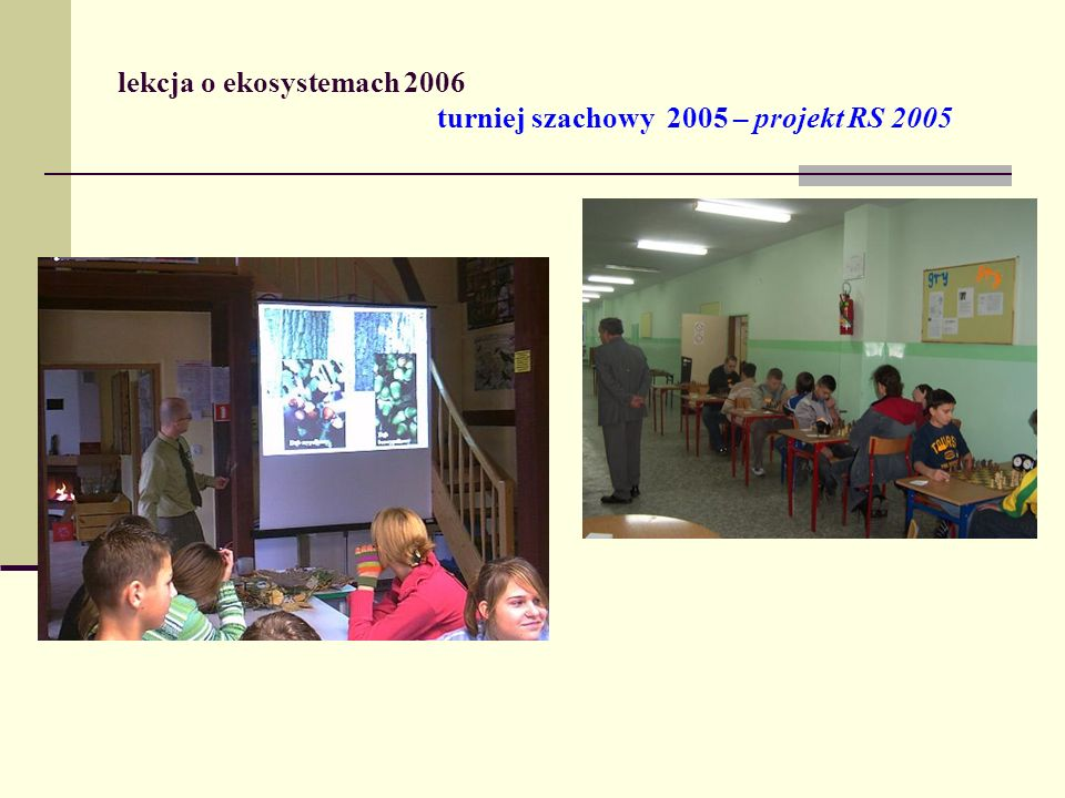 lekcja o ekosystemach 2006 turniej szachowy 2005 – projekt RS 2005