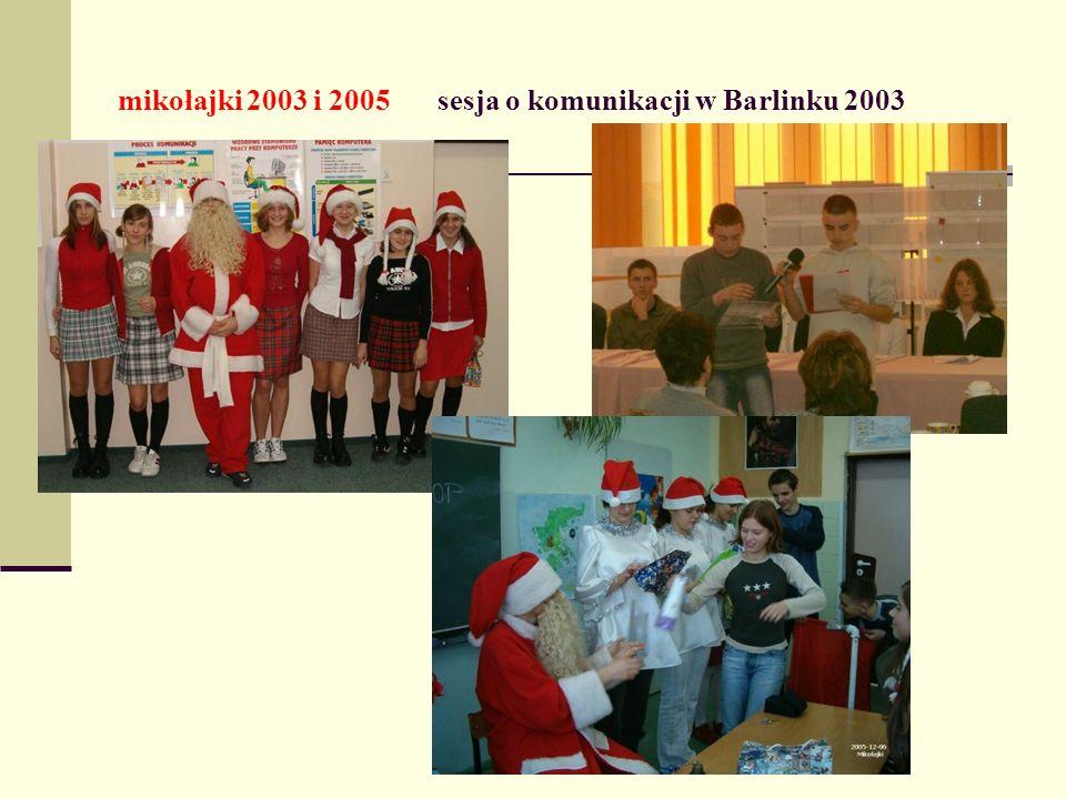 mikołajki 2003 i 2005 sesja o komunikacji w Barlinku 2003