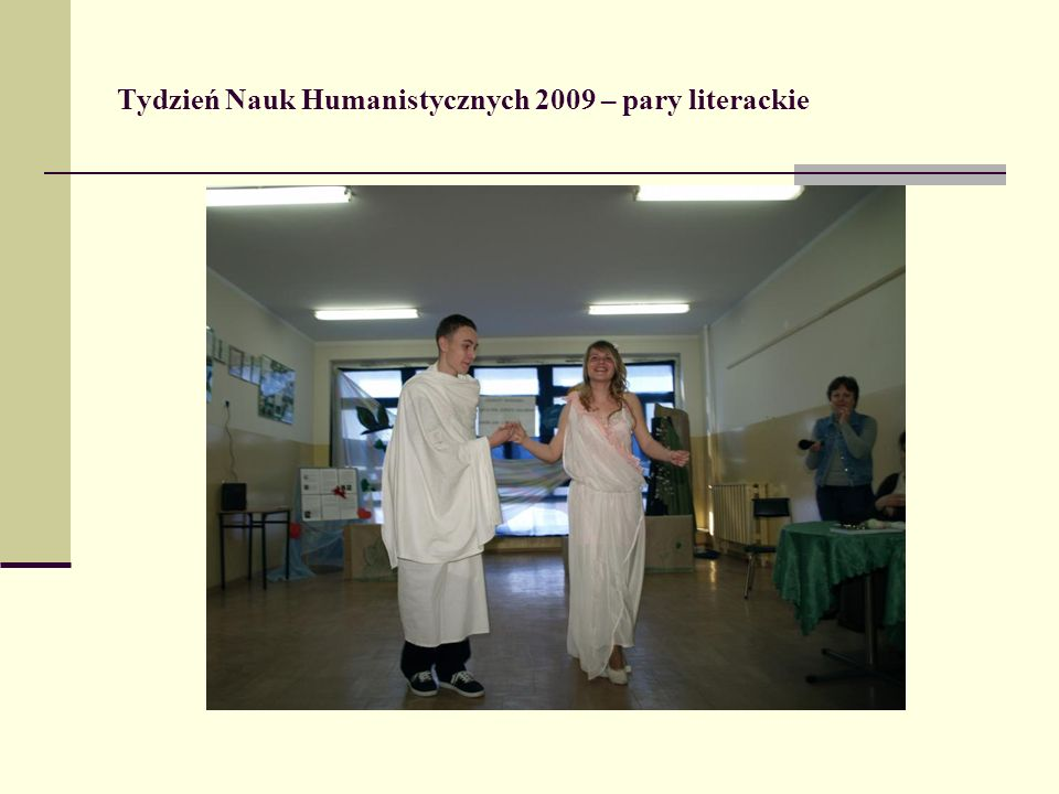 Tydzień Nauk Humanistycznych 2009 – pary literackie