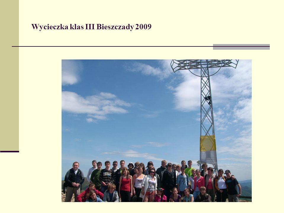 Wycieczka klas III Bieszczady 2009