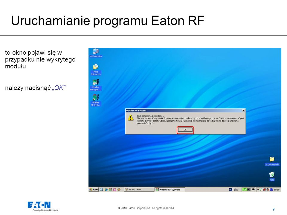 130 © 2010 Eaton Corporation. All rights reserved. Sterowanie Room Managerem za pomocą SMS-a