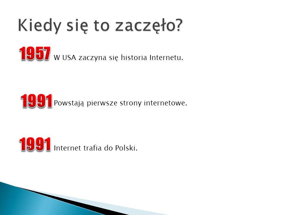 W USA zaczyna się historia Internetu. Powstają pierwsze strony internetowe. Internet trafia do Polski.
