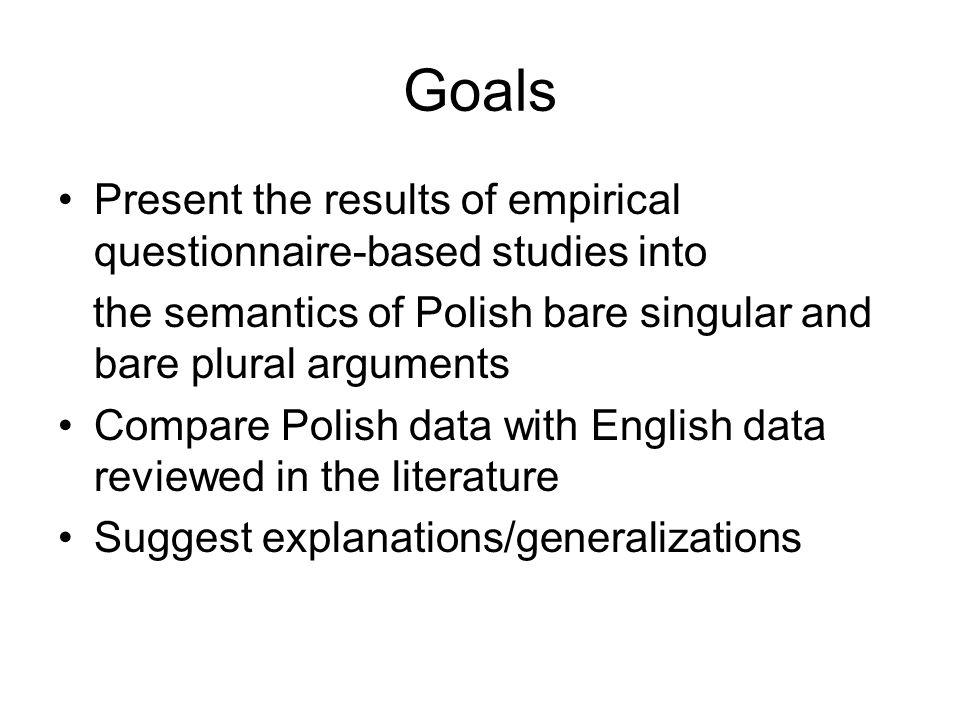 Background Carlson (1977) Krifka et al.