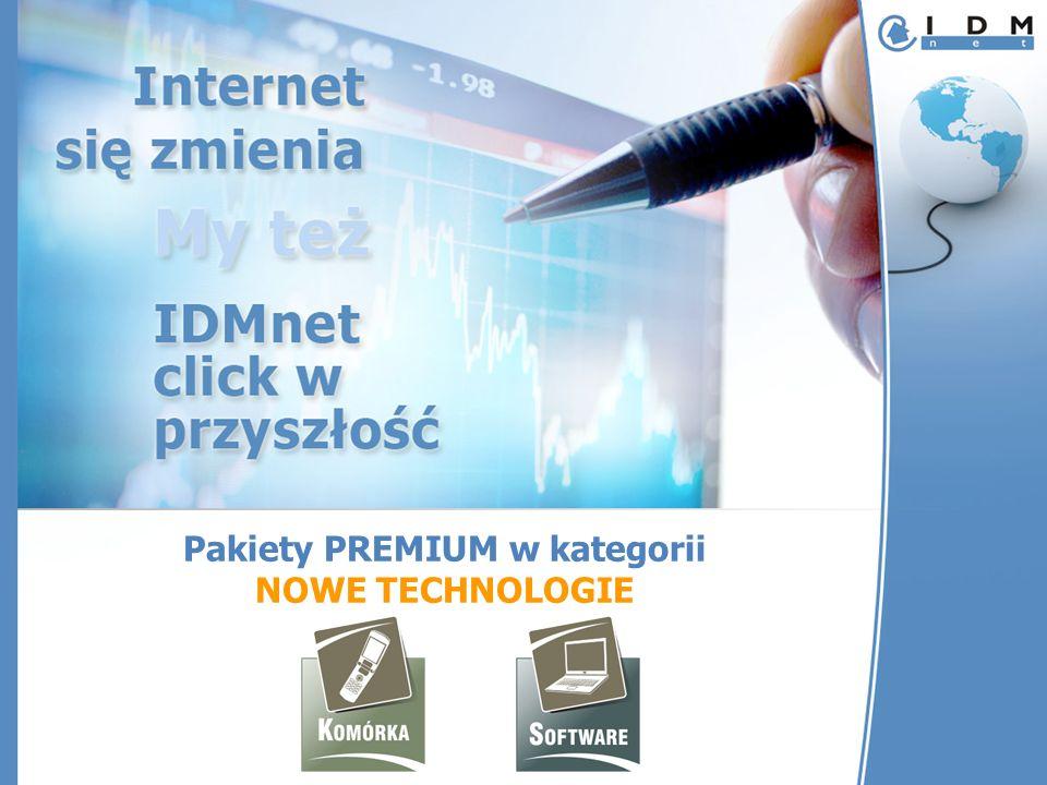 Pakiety PREMIUM w kategorii NOWE TECHNOLOGIE