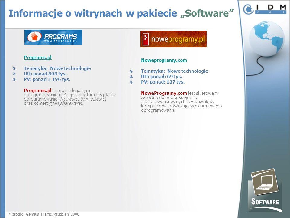 Programs.pl Tematyka: Nowe technologie UU: ponad 898 tys.