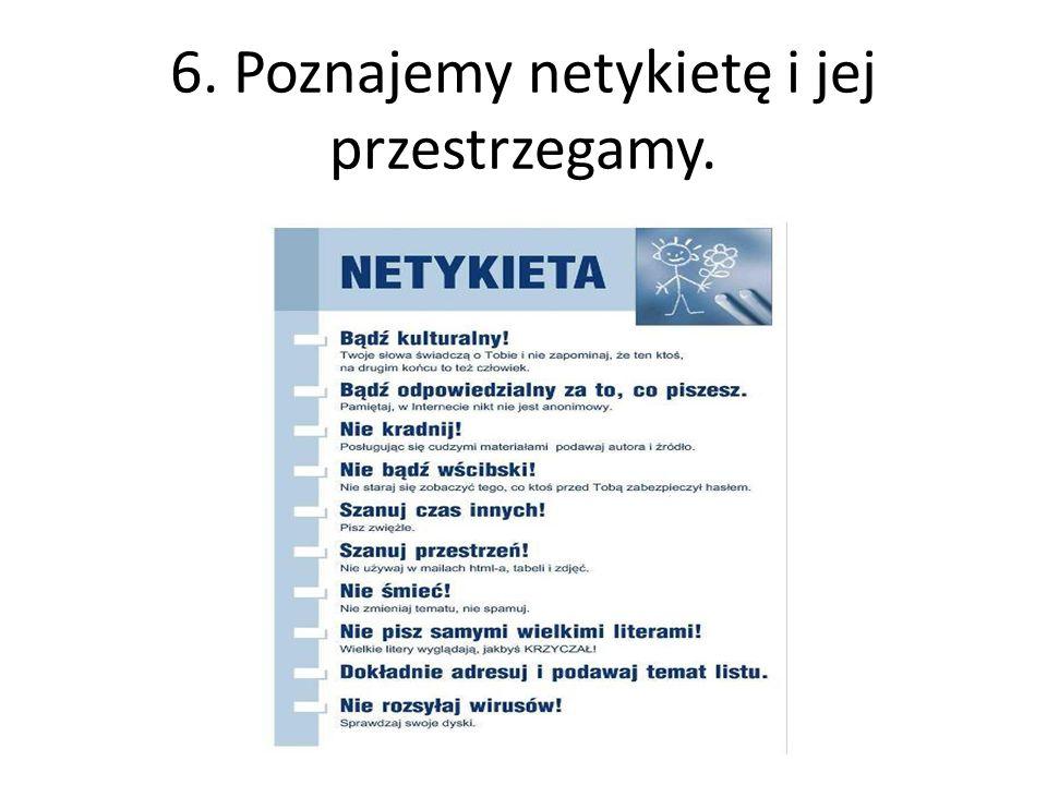 7. Poznajemy wybrane zagadnienia prawa autorskiego. Z sieci korzystamy zgodnie z prawem.