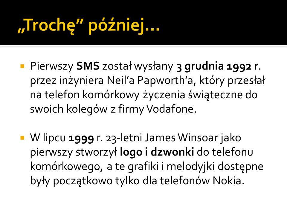 Pierwszy SMS został wysłany 3 grudnia 1992 r. przez inżyniera Neila Papwortha, który przesłał na telefon komórkowy życzenia świąteczne do swoich koleg
