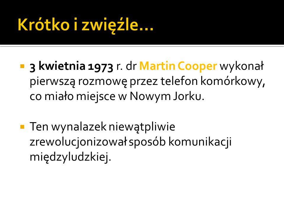 Pierwszym operatorem sieci telefonii komórkowej był Sztokholm.