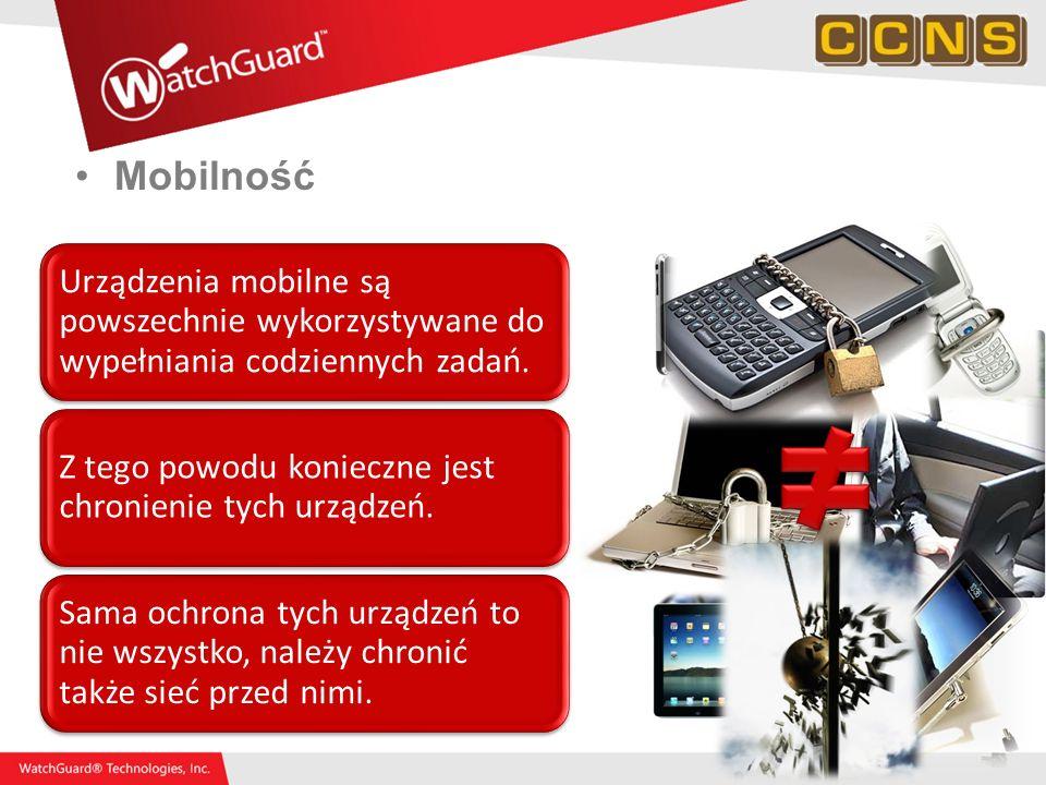 Mobilność Urządzenia mobilne są powszechnie wykorzystywane do wypełniania codziennych zadań. Z tego powodu konieczne jest chronienie tych urządzeń. Sa