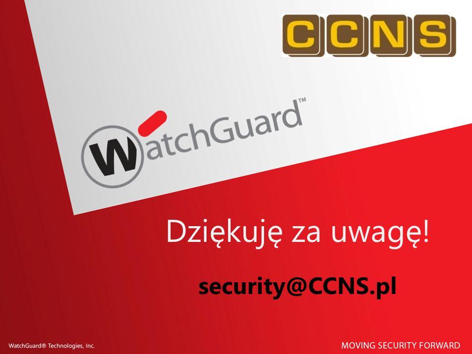 Dziękuję za uwagę! security@CCNS.pl