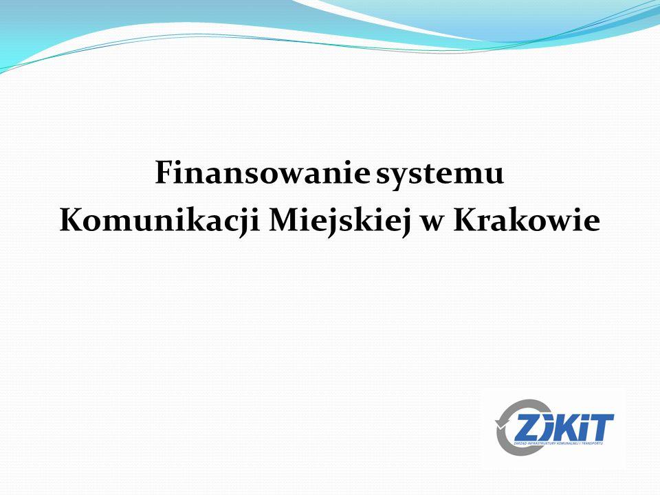 Finansowanie systemu Komunikacji Miejskiej w Krakowie