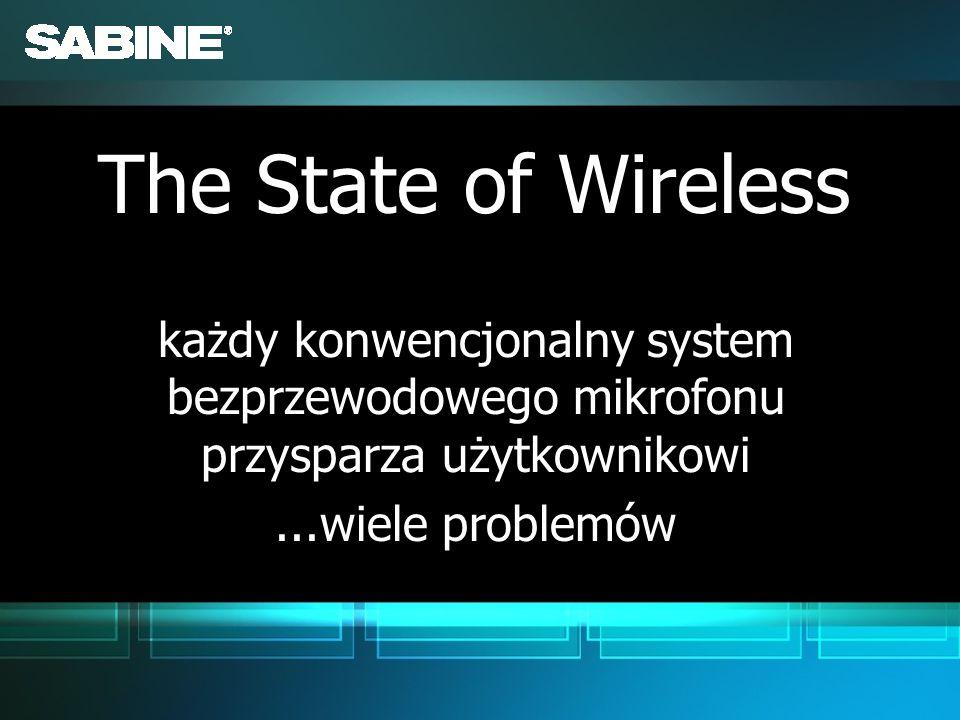 każdy konwencjonalny system bezprzewodowego mikrofonu przysparza użytkownikowi...wiele problemów każdy konwencjonalny system bezprzewodowego mikrofonu