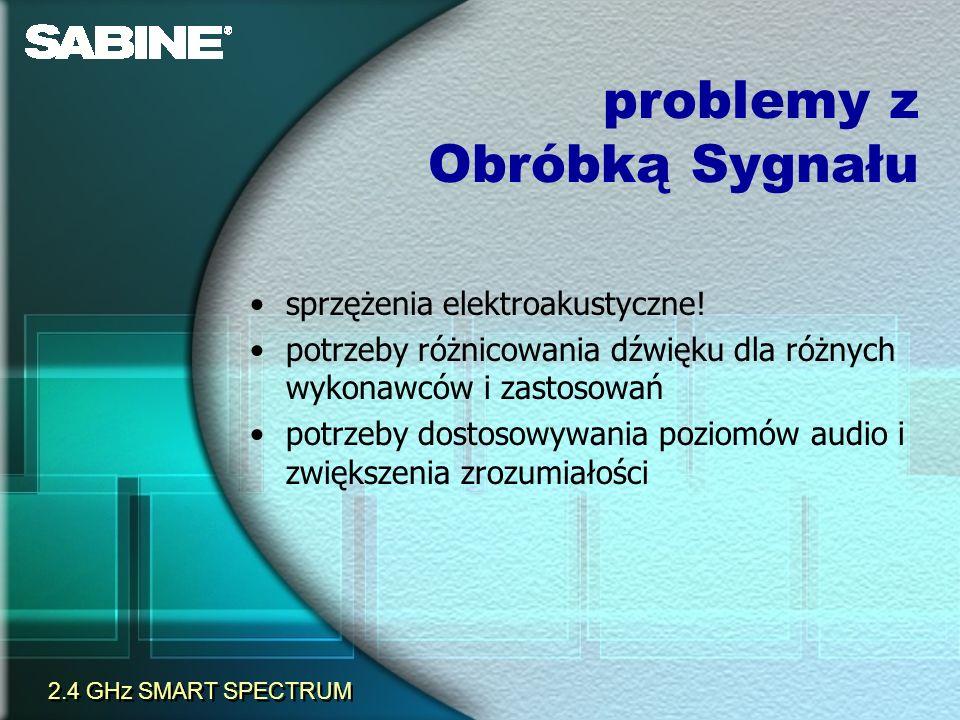 problemy z Obróbką Sygnału sprzężenia elektroakustyczne! potrzeby różnicowania dźwięku dla różnych wykonawców i zastosowań potrzeby dostosowywania poz