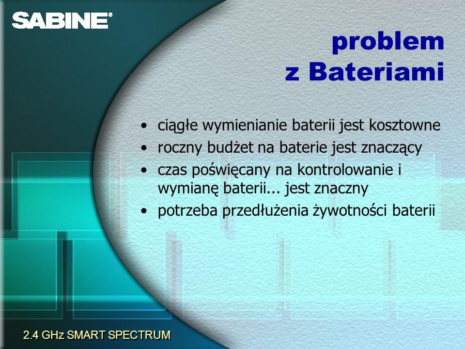 problem z Bateriami ciągłe wymienianie baterii jest kosztowne roczny budżet na baterie jest znaczący czas poświęcany na kontrolowanie i wymianę bateri