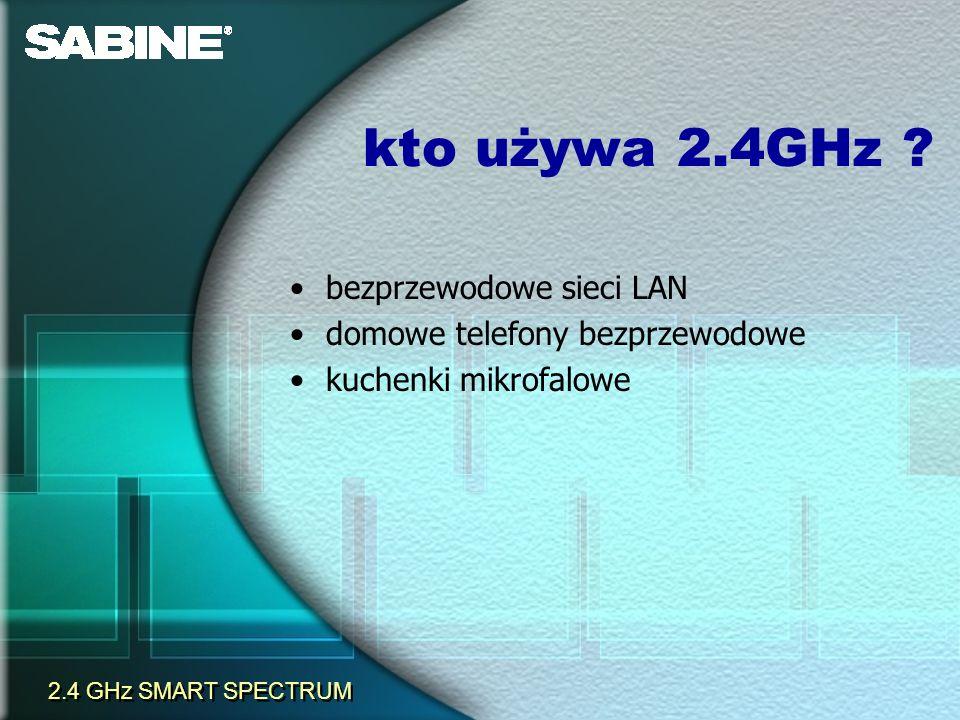 kto używa 2.4GHz ? bezprzewodowe sieci LAN domowe telefony bezprzewodowe kuchenki mikrofalowe 2.4 GHz SMART SPECTRUM