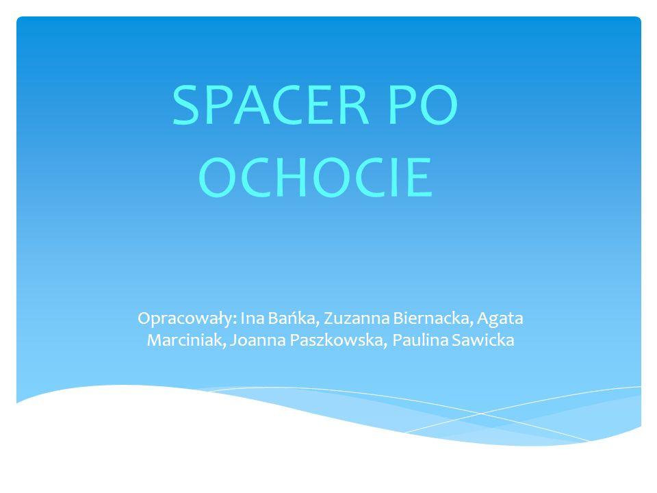 SPACER PO OCHOCIE Opracowały: Ina Bańka, Zuzanna Biernacka, Agata Marciniak, Joanna Paszkowska, Paulina Sawicka