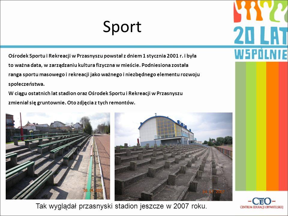 Sport Ośrodek Sportu i Rekreacji w Przasnyszu powstał z dniem 1 stycznia 2001 r. i była to ważna data, w zarządzaniu kultura fizyczna w mieście. Podni