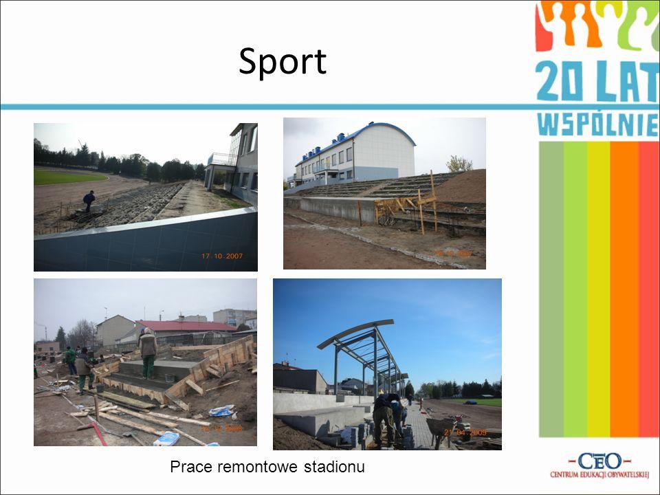 Sport Prace remontowe stadionu