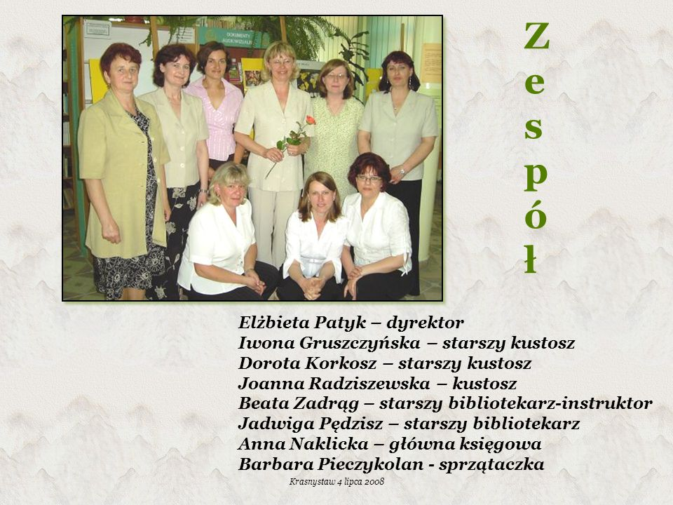 Krasnystaw 4 lipca 2008 Działalność informacyjna 1.Zestawienia bibliograficzne 2.Teczki tematyczne 3.Materiały repertuarowe 4.Punkt informacji europejskiej
