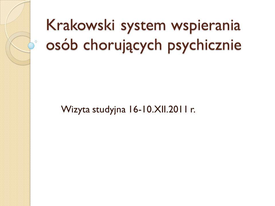 Koalicjanci systemu Stowarzyszenie na Rzecz Rozwoju Psychiatrii i Opieki Środowiskowej Stowarzyszenie Otwórzcie Drzwi Stowarzyszenie Rodzin Zdrowie Psychiczne Katedra Psychiatrii Collegium Medicum Uniwersytetu Jagiellońskiego