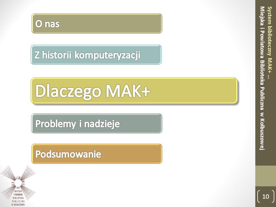 10 System biblioteczny MAK+ … Miejska i Powiatowa Biblioteka Publiczna w Kolbuszowej