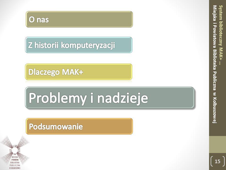 15 System biblioteczny MAK+ … Miejska i Powiatowa Biblioteka Publiczna w Kolbuszowej