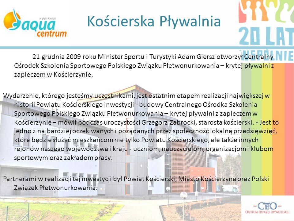21 grudnia 2009 roku Minister Sportu i Turystyki Adam Giersz otworzył Centralny Ośrodek Szkolenia Sportowego Polskiego Związku Płetwonurkowania – kryt