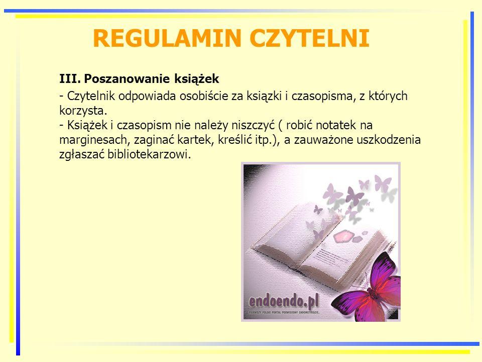 REGULAMIN CZYTELNI III.