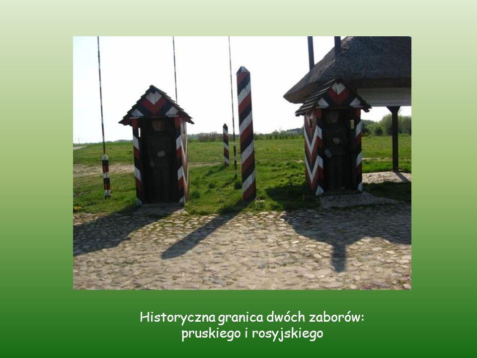 Historyczna granica dwóch zaborów: pruskiego i rosyjskiego
