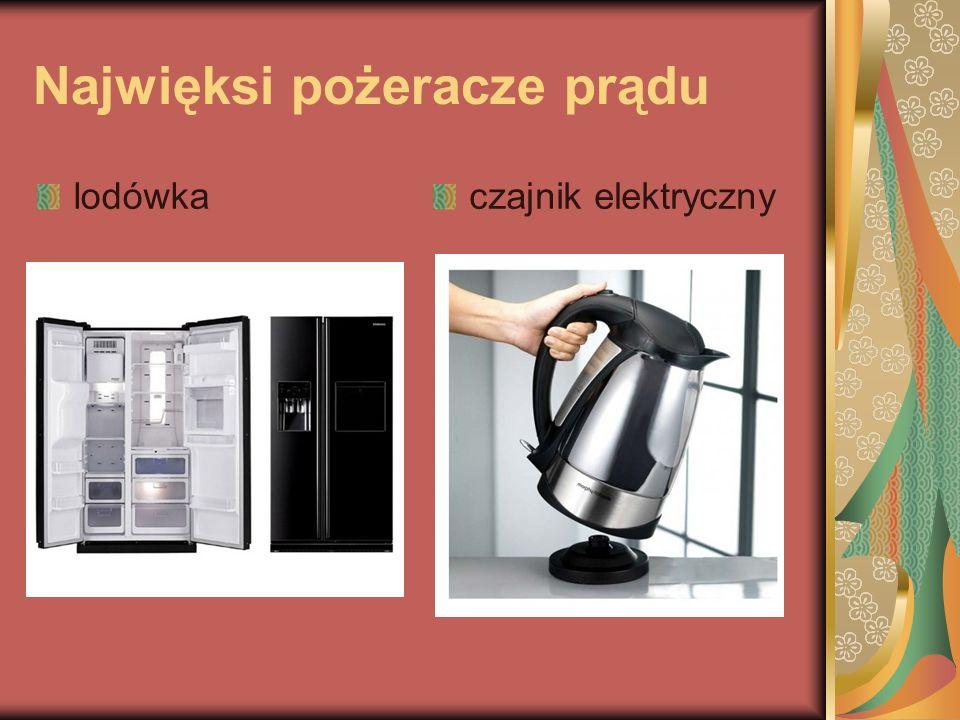 Najwięksi pożeracze prądu lodówkaczajnik elektryczny