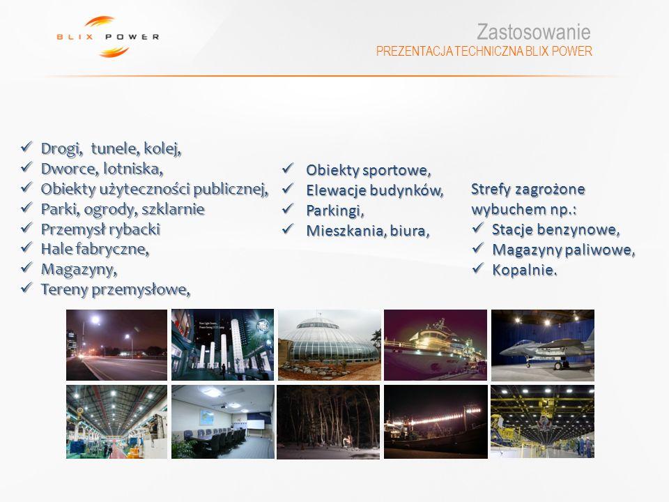 PREZENTACJA TECHNICZNA BLIX POWER Drogi, tunele, kolej, Drogi, tunele, kolej, Dworce, lotniska, Dworce, lotniska, Obiekty użyteczności publicznej, Obi