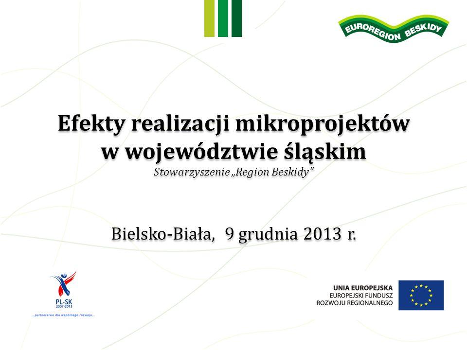 Efekty realizacji mikroprojektów w województwie śląskim Stowarzyszenie Region Beskidy