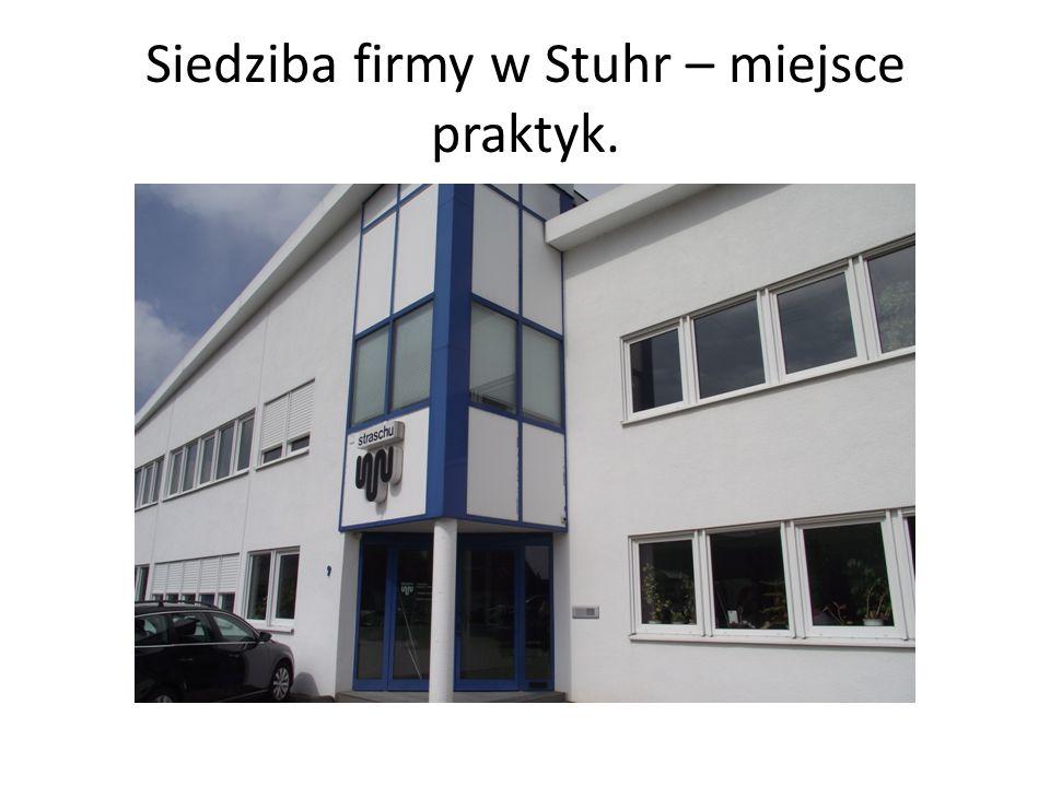 Siedziba firmy w Stuhr – miejsce praktyk.