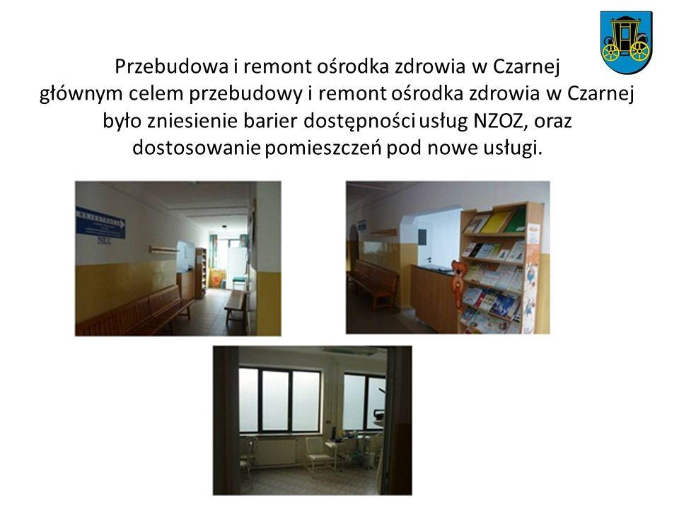 Przebudowa i remont ośrodka zdrowia w Czarnej głównym celem przebudowy i remont ośrodka zdrowia w Czarnej było zniesienie barier dostępności usług NZO