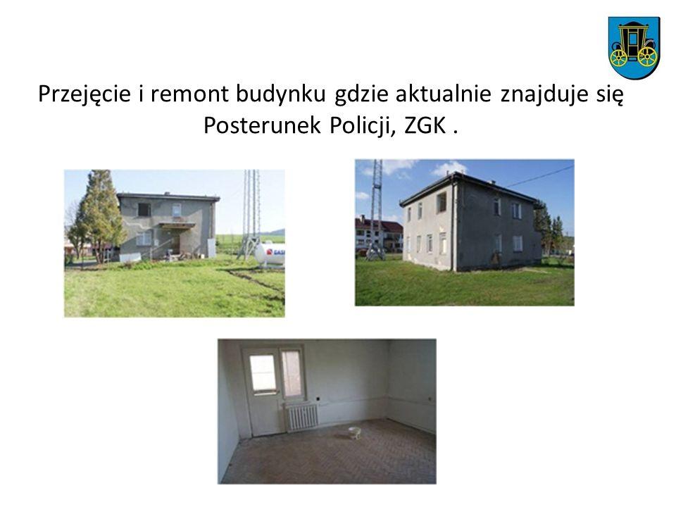 Przejęcie i remont budynku gdzie aktualnie znajduje się Posterunek Policji, ZGK.