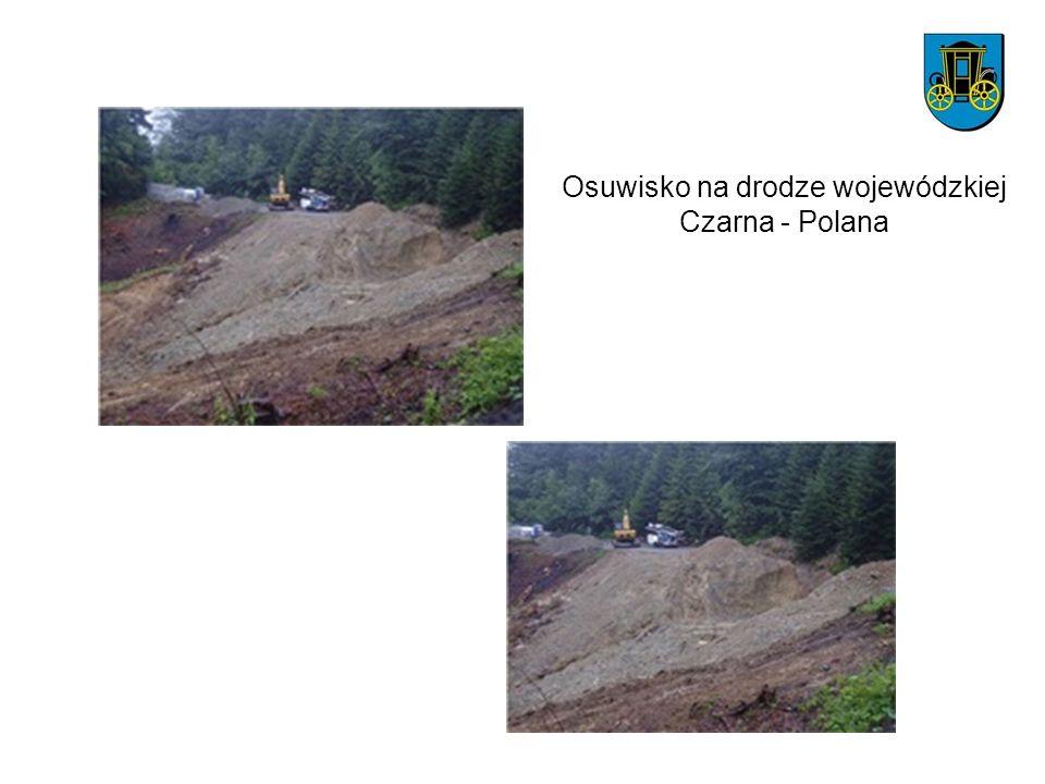 Osuwisko na drodze wojewódzkiej Czarna - Polana