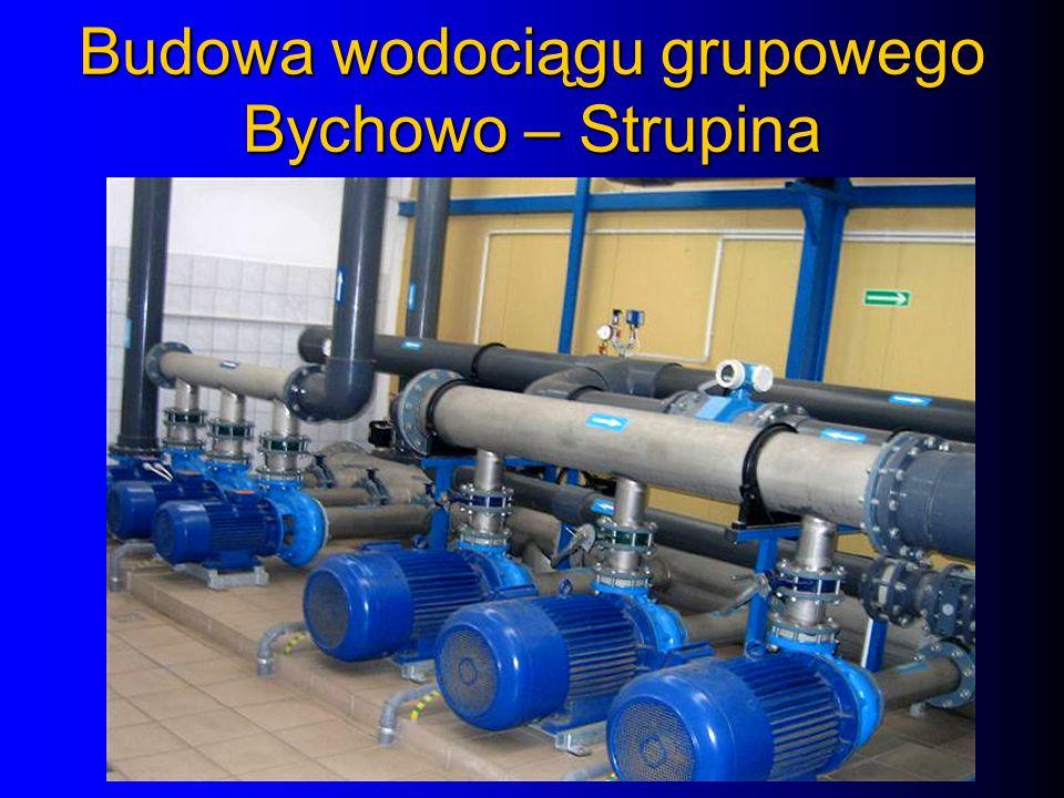inwestycja realizowana przez Związek Gmin Bychowo w latach 1983- 2002 (ostatni etap w ramach KW na lata 2001 – 2003 ) Przedmiot inwestycji – doprowadzenie wody bezpośrednio do gospodarstw i innych zabudowań za pomocą przyłączy wodociągowych Wartość kosztorysowa inwestycji - ponad 27,5 mln zł.
