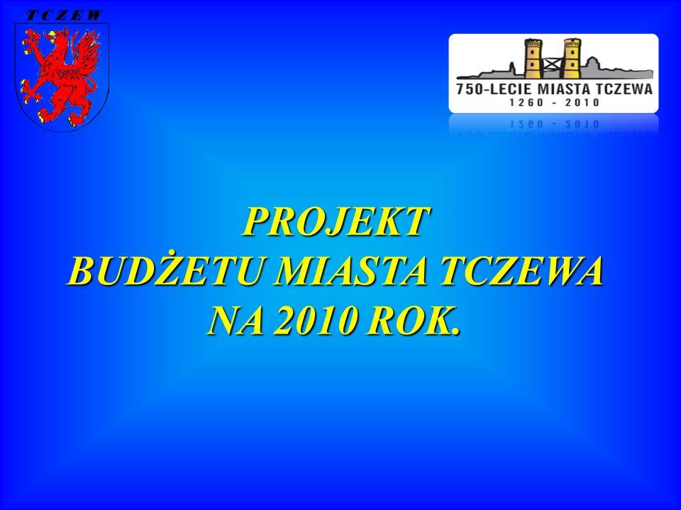 PROJEKT BUDŻETU MIASTA TCZEWA NA 2010 ROK.