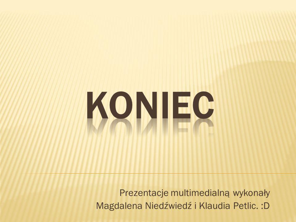 Prezentacje multimedialną wykonały Magdalena Niedźwiedź i Klaudia Petlic. :D